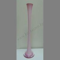 Ваза для цветов узкая розовая, высота 58см