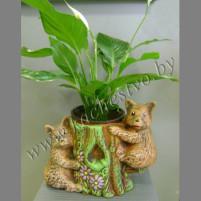 Кашпо декоративное с мишками