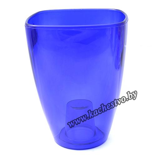 Горшок для орхидей из синего пластика 13см