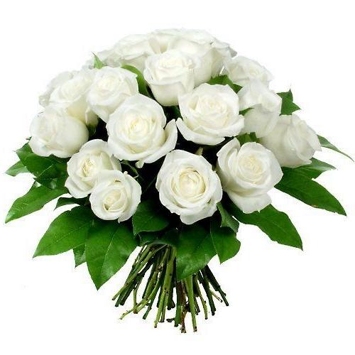 Букет из белоснежных роз