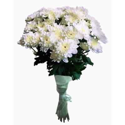 Букет из белых хризантем Зембла