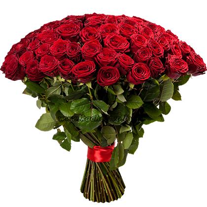 Букет бордовых роз сорта Red Naomi